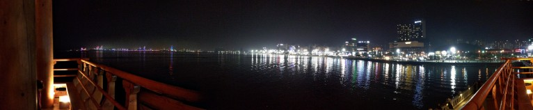 Bukbu beach at night