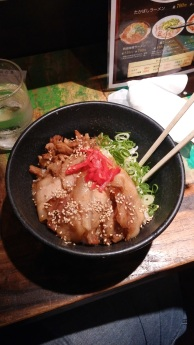 Teriyaki pork and rice. SO GOOD!